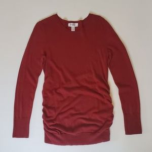 MOTHERHOOD MATERNITY | Scoop Neck Red Sweater